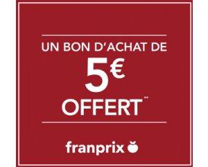 60 d 39 achat un bon d 39 achat de 5 offert franprix for Bon d achat id garage