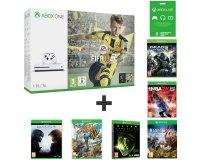 Auchan: Xbox One S 1To + 3 mois Xbox live + 7 jeux (FIFA17, GoW 4, Halo 5...) à 269,99€
