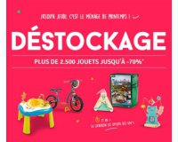 Avenue des Jeux: Plus de 2500 jouets en déstockage avec des remises allant jusqu'à - 70 %