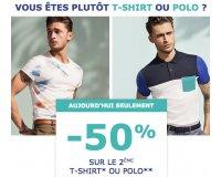 Jules:  -50% sur le 2ème polo ou t-shirt acheté