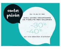 Galeries Lafayette: Ventes privées jusqu'à 40% de remise