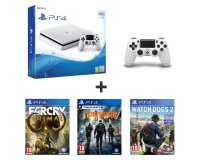 Auchan: PS4 500Go + 2e manette + Watch Dogs 2 + The Division + Far Cry Primal à 289,99€