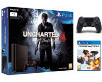 Micromania: Pack PS4 Slim 1 To + 2e manette + Uncharted 4 + Overwatch à 289,99€
