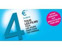 UGC: 4€ la place de ciné avec votre carte de fidélité UGC