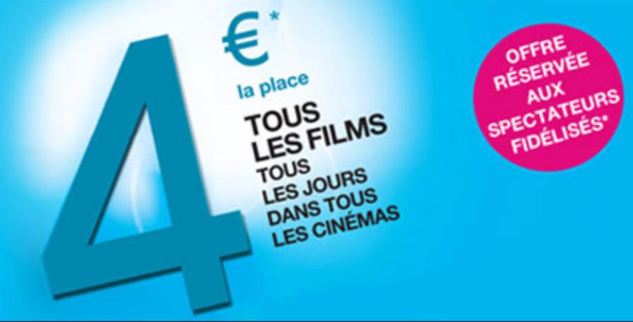 Code promo UGC : 4€ la place de ciné avec votre carte de fidélité UGC