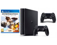 Micromania: Console PS4 Slim 500 Go + 2e manette + Overwatch à 249,99€