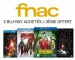 Fnac: 2 Blu-Ray achétés = le 3e offert parmi une sélection de plus de 500 films