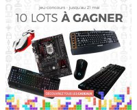GrosBill: 10 lots Gaming PC (claviers Logitech, souris MadCatz...) à gagner