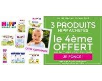 Allobébé: 3 produits d'alimentation bio HIPP achetés = le 4ème offert