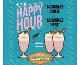 HD Diner: [Du lundi au vendredi de 15h à 19h] 1 milkshake acheté = 1 milkshake offert