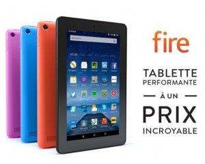 """Amazon: Tablette 7"""" Fire d'Amazon à 44,99€"""