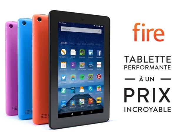 """Code promo Amazon : Tablette 7"""" Fire d'Amazon à 44,99€"""