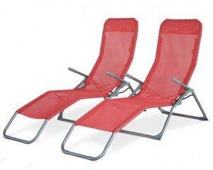 eBay: Lot de 2 transats pliables Levito couleur Corail à 39,90€ livraison comprise