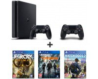 Auchan: PS4 500Go + 2e manette + Watch Dogs 2 + The Division + Far Cry Primal à 289.99€