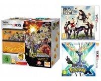 Micromania: Nintendo New 3DS + DBZ : Extreme Butoden + Pokemon X & Bravely Default à 139,99€
