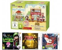 Micromania: Nintendo New 3DS + Animal Crossing + Zelda + Luigi + Pokemon Y à 169,99€