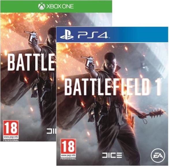 Code promo Maxi Toys : Battlefield 1 sur PS4 ou Xbox One à 19,98€