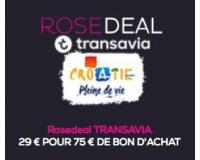 Vente Privée: Rosedeal Transavia : 29€ pour 75€ de bon d'achat sur les vols vers la Croatie