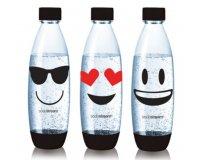 Vente Privée: Kit de 3 bouteilles émoji Sodastream + pastilles de nettoyage à 17€