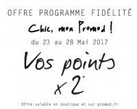 Promod: [Membres programme fidélité] Points doublés sur la carte pour tout achat