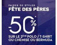 Brice: 50% de réduction sur le 2ème polo, t-shirt, chemise ou bermuda acheté