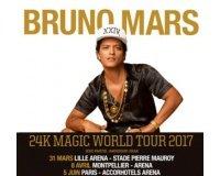 NRJ: 4×2 places pour le concert de Bruno Mars le 5 juin à Paris à gagner
