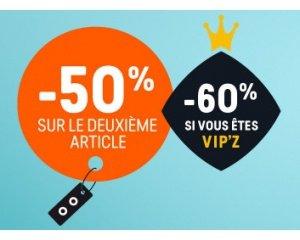 Z-Eshop: -50% sur le 2ème article (et -60% pour les VIP'Z)