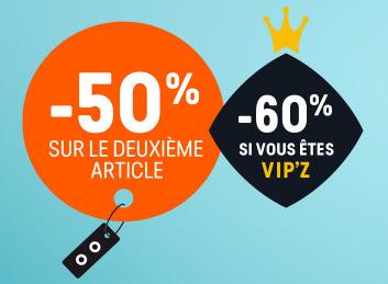 Code promo Z-Eshop : -50% sur le 2ème article (et -60% pour les VIP'Z)