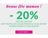Agatha: Fête des mères : 20% offerts dès 50€ d'achat