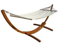 Conforama: Hamac en bois relax modèle Dallas avec toile écru à 123,76€