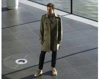 GQ Magazine: Le look trench coat Michael Kors porté par Fernando Alonso à gagner