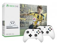 Microsoft: Pack Xbox One S 500 Go FIFA17 + 2ème manette à 239€