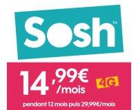 Sosh: [Nouveaux Clients] L'offre Sosh mobile + Livebox à 14,99€ / mois pendant 1 an