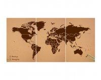 Westwing: Carte du monde en liège naturel 180x90 à 69€ au lieu de 100€