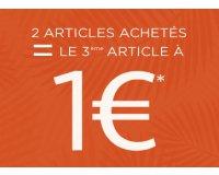 MOA: 3 articles achetés = le moins cher à 1€