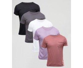 ASOS: Lot de 5 Tee shirts à seulement 33,99€ au lieu de 70,99€