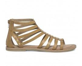 Eram: Sandale spartiate cuir camel et or à 19,50€ au lieu de 39€