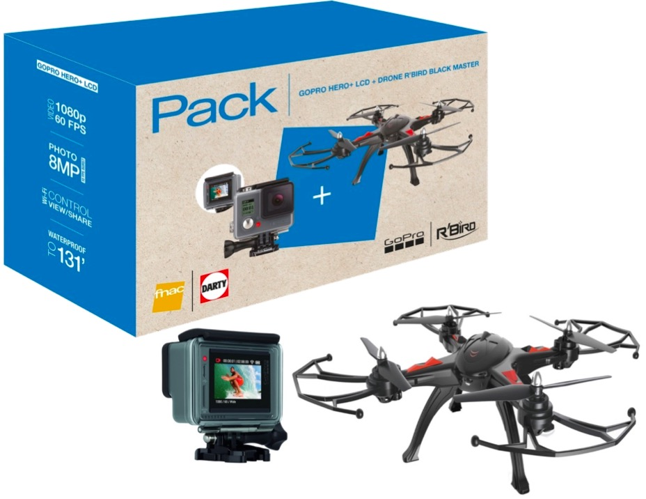 Code promo Darty : Drone R Bird Black Master + GoPro HERO+ LCD à 169,99€