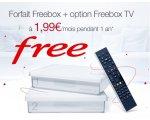 Vente Privée: Forfait Internet Freebox Crystal + option Freebox TV à 1,99€ / mois pendant 1 an