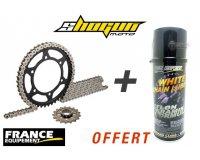 Shogunmoto: 1 kit chaine moto France Équipement acheté = 1 spray de graisse de chaine offert