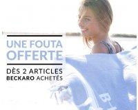 Kidiliz: Une Fouta Beckaro offerte dès 2 articles Beckaro achetés