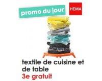 HEMA: 2 textiles de cuisine et de table achetés = le 3ème gratuit