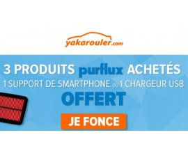 Yakarouler: 3 filtres Purflux achetés = 1 support de smartphone ou 1 chargeur usb en cadeau