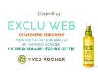 Darjeeling: 1 maillot de bain acheté = 1 spray solaire invisible Yves Rocher offert