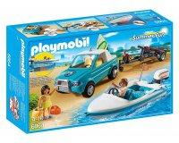King Jouet: Playmobil Voiture avec bateau et moteur submersible (6864) à 19,99€