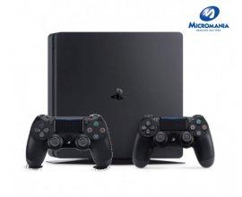 Micromania: La console PS4 Slim noire ou blanche + une deuxième manette officielle à 249,99€