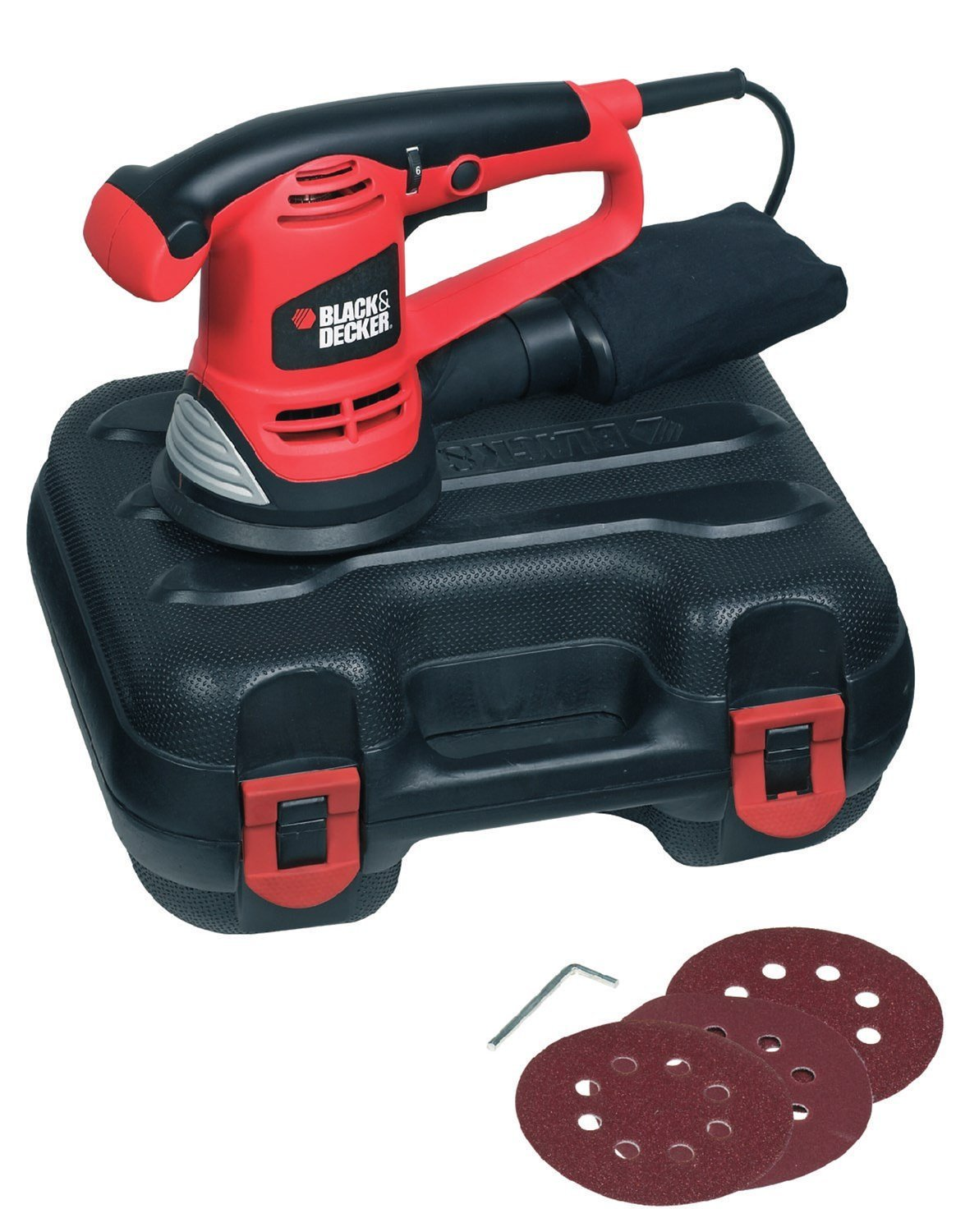 Code promo Amazon : Ponceuse excentrique 125 mm Black + Decker KA191EK 480 W à 39,99€