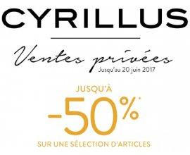 Cyrillus: Jusqu'à - 50% pendant les ventes privées pré-soldes + code livraison gratuite