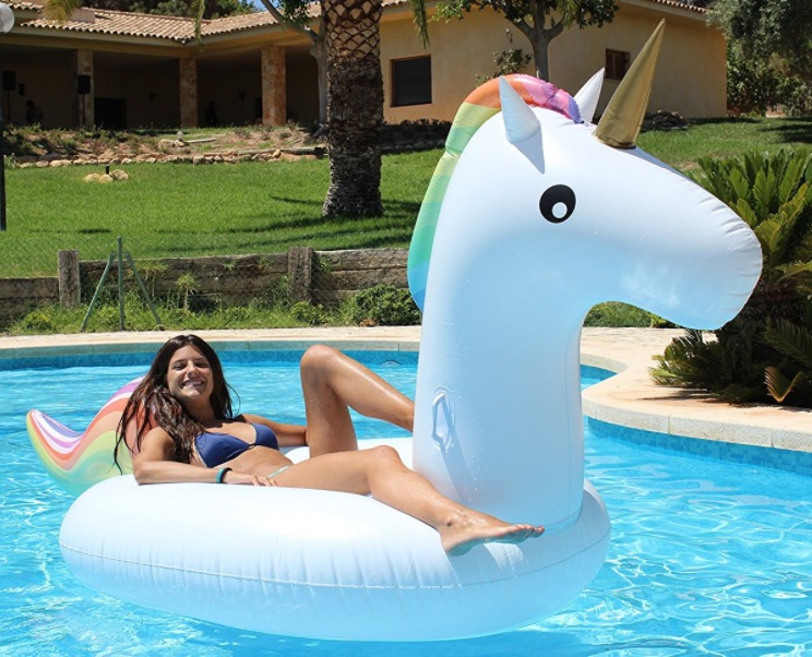 Bou e g ante gonflable de piscine mod le licorne raphael 42 37 amazon - Bouee geante pas cher ...