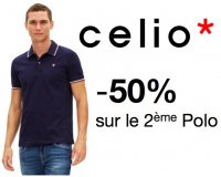 Celio*: 50% de réduction sur le 2ème polo acheté